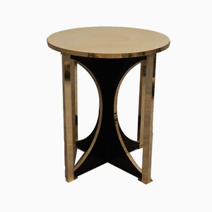 Mid-Century Goat Skin and Brass Side Tables, 1960s, Set of 2