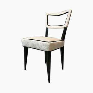 Art Deco Italian Black & White Chairs, 1940s, Set of 8