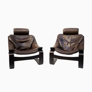Kroken Lounge Chairs by Ake Fribytter, 1970s, Set of 2