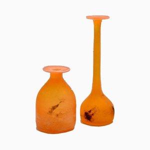 Murano Glass Vases by Antonio Da Ros for Cenedese , 1960s, Set of 2