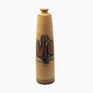 Jarrón de cerámica esmaltada de Cianciolo Noma Messina, años 60