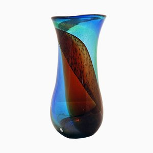 Sommerso Vase aus Muranoglas von Cenedese, 1970er
