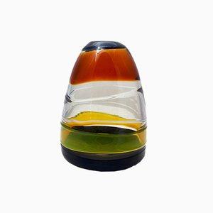Jarrón Sasso de cristal de Murano de Renato Gaspari para Salviati, años 70