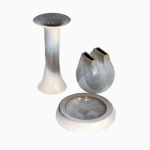 Jarrones de cerámica de Bucci-Pesaro, años 70. Juego de 3