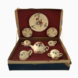 Vintage French Porcelain Children's Tea Set from Longchamp