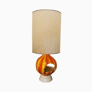 Lámpara italiana de cerámica hecha a mano, años 60