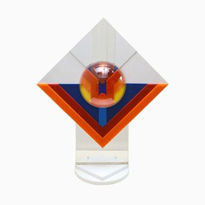 Scultura in plexiglass multicolorato di Raffa Festa, anni '70