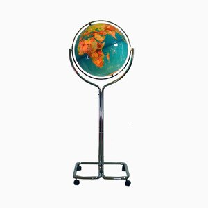 World Globe Floor Lamp, 1970s