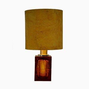 Vintage Tischlampe mit Fuß aus mundgeblasenem Glas von Maetri Vetrai Murano, 1960er