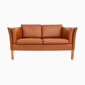 Vintage Danish Leather Sofa, 1960s