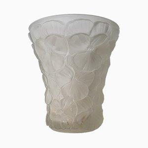 Vase Art Déco en Verre par Schrötter Rudolf pour Barolac, Tchécoslovaquie, 1930s