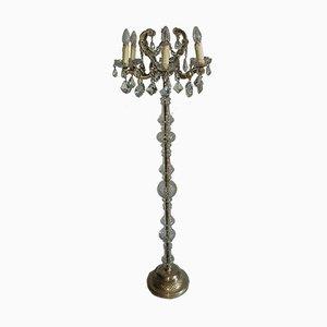 Vintage Marie Theresia Stehlampe aus Kristallglas von Joska Bodenmais
