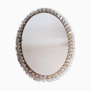Specchio ovale con luce di Emil Stejnar per Rupert Nikoll, anni '50