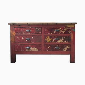 Vintage Workbench with 6 Drawers