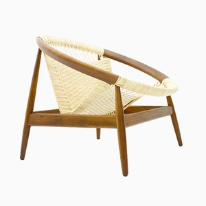 Ringstol Lounge Chair by Illum Wikkelso for Niels Eilersen, 1950s