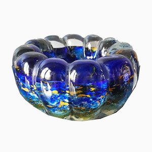 Vintage Multicoloured Glass Bowl