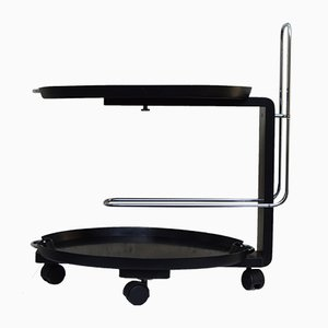 Black Service Cart by Waldemar Rothe for Rosenthal, 1980s