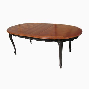 Louis XV Style Extendable Cherry Table, 1970s