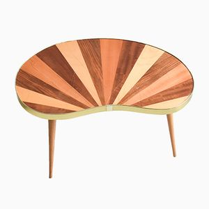 Mid-Century Modern Striped Kidney Table