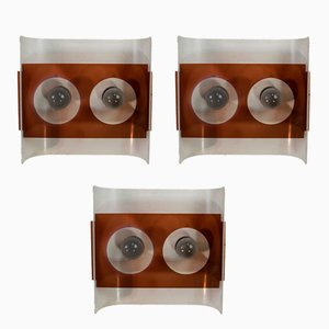 Space Age Wall Lamps, 1970s, Set of 3