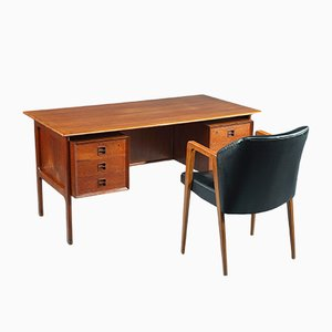 Mid-Century Desk and Armchair Set by Arne Vodder for Sibast