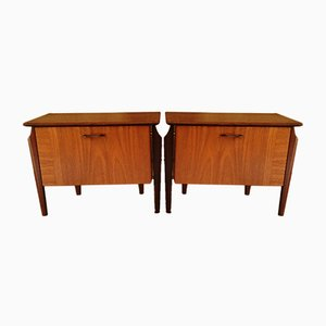 Mid-Century Teak Nightstands from WéBé, Set of 2