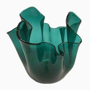 Jarrón Fazzoletto de vidrio de Paolo Venini para SALIR Murano, años 50