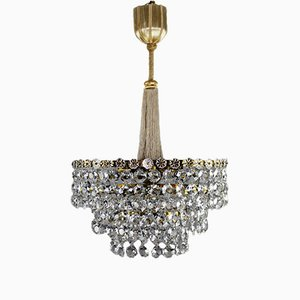 Lampadario Art Deco in cristallo di J. & L. Lobmeyr