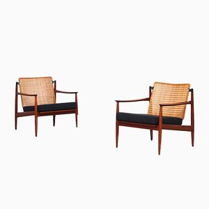 German Teak Lounge Chairs by Carl Straub for Goldfeder, 1960s, Set of 2