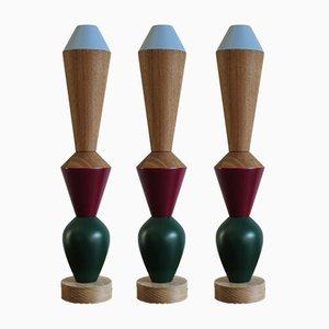 Candeleros iTotem modulares de madera de Capperidicasa