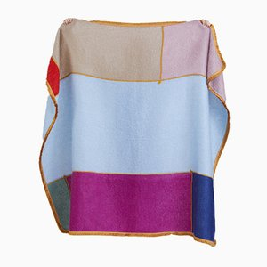 Coperta patchwork multicolore in mohair di Dinsh London