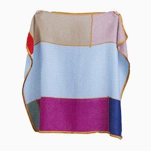 Coperta patchwork multicolore in mohair di Monique van Vessem