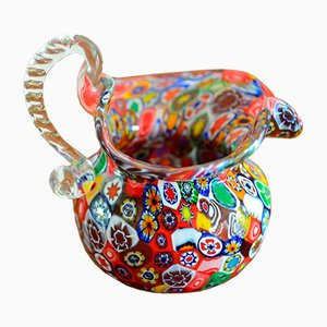 Millefiori Murano Glass Vase, 1950s