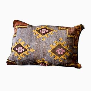 coussin lombaire kilim en laine marron verte bleue et jaune par zencef 2015 en vente sur pamono. Black Bedroom Furniture Sets. Home Design Ideas