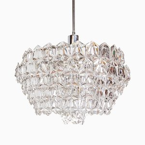 Vintage Six-Level Crystal Chandelier, 1970s