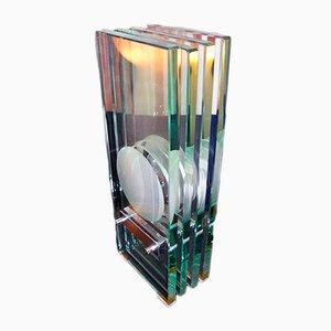 Lámpara de mesa de cristal de Max Ingrand para Fontana Arte, años 60