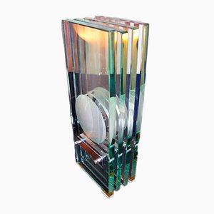 Tischlampe aus Kristallglas von Max Ingrand für Fontana Arte, 1960er