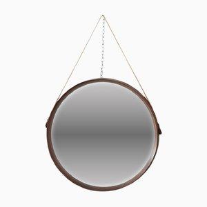 Specchio da parete vintage in teak di Uno & Osten Kristiansson per Luxus, anni '60