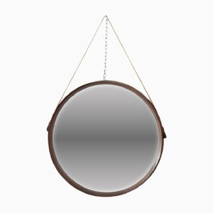 Vintage Teak Wall Mirror by Uno & Osten Kristiansson for Luxus, 1960s