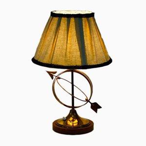 Lámpara de mesa italiana de latón, años 50