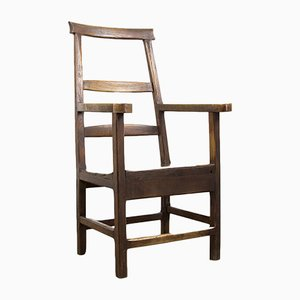 Antique French Oak Farmhouse Chair