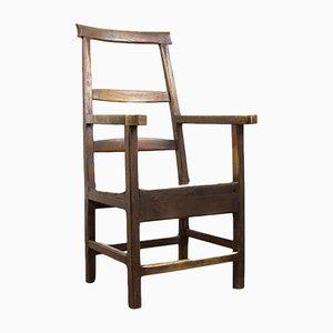 Chaise de Ferme Antique en Chêne, France