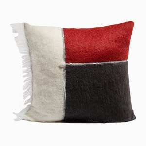 Mohair Patchwork Cushion by Dinsh London
