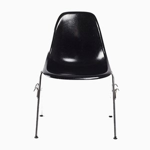 DSS Black Fiberglass Chair by Charles & Ray Eames for Herman Miller, 1972