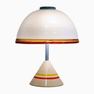 Tischlampe aus mundgeblasenem Glas von Leucos, 1980er