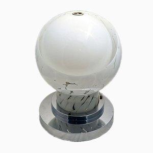 Lámpara de mesa de vidrio de Esperia, años 70