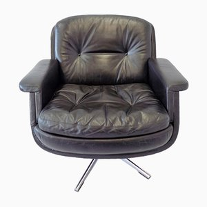 Leather Lounge Chair by Eugen Schmidt for Soloform, 1960s