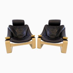 Kroken Lounge Chairs by Åke Fribytter for Nelo Möbel, 1999, Set of 2