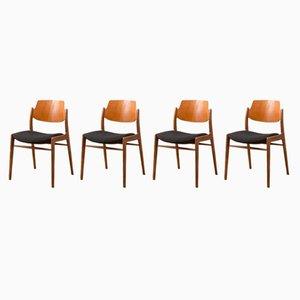 Esszimmerstühle von Wilkhahn, 1950er, 4er Set