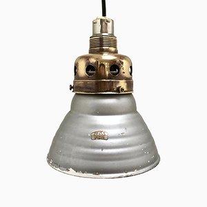 Lámpara colgante eglomisé vintage de vidrio de Adolf Meyer para Zeiss Ikon
